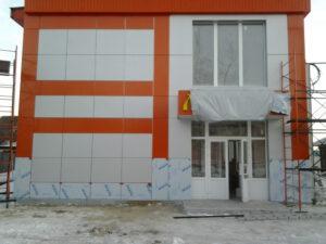 Обшивка фасада композитными панелями