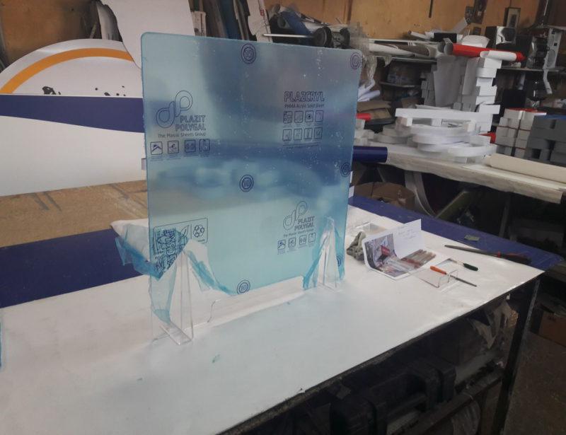 Защитные экраны на рабочие места