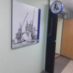 Пилон в интерьере офиса