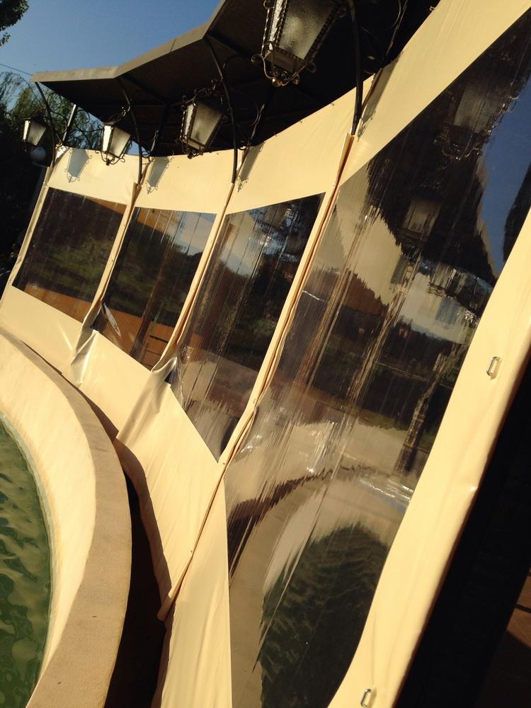 Тенты, конструкции летних кафе