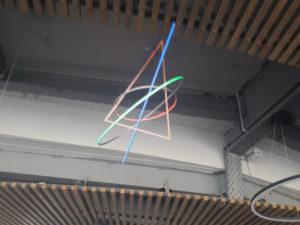 """Пространственные светильники для ресторана """"Река"""""""