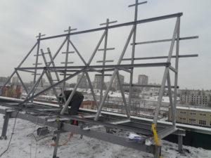 Монтаж крышных установок