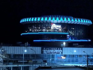 "Архитектурная подсветка ресторана ""Река"". Волгоград 2020"