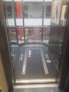 Оформление поля лифта для YAMAGUCHI в ТРК Мармелад